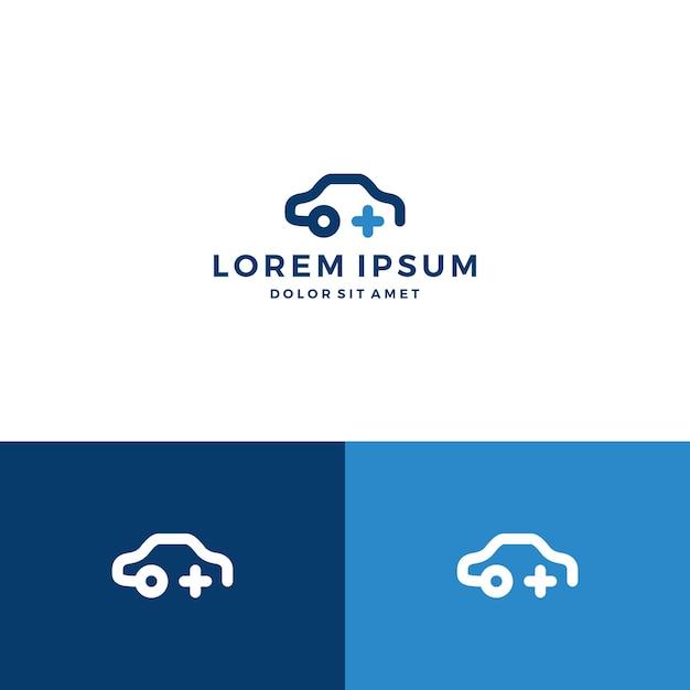 Car Plus Logo Vector Premium Download