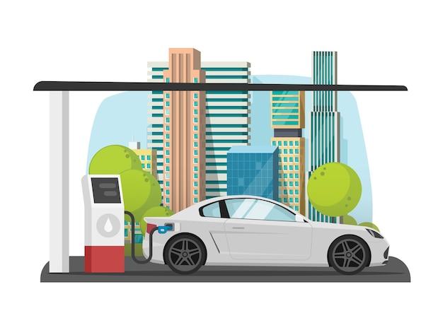 Заправка автомобилей на городской азс квартира Premium векторы