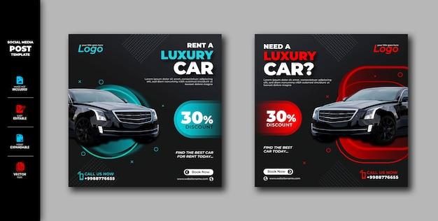 Car Rent A Car Rental Social Media Post Instagram Banner Template Premium Vector