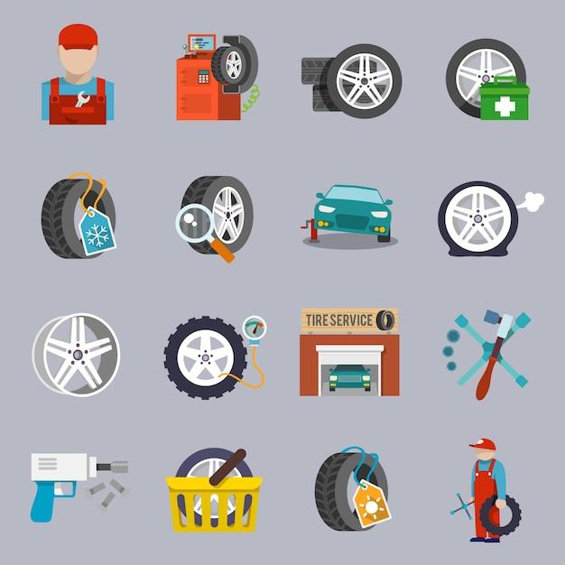 Car repair icons collection Premium Vector