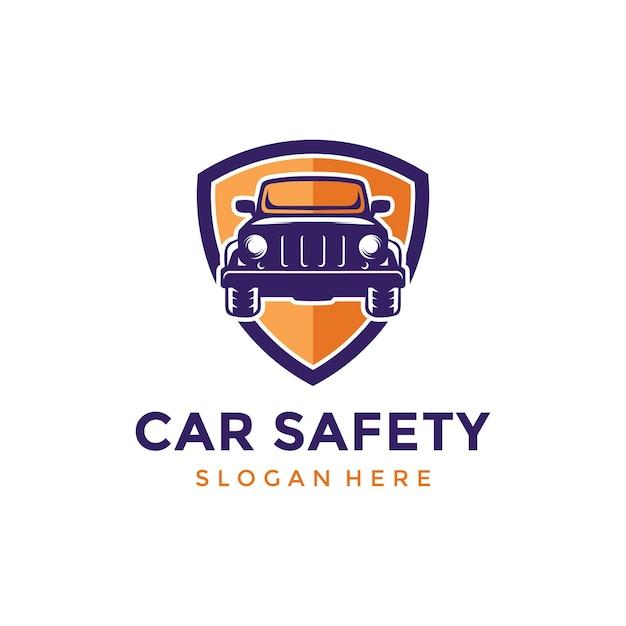Car safety logo design inspiration Premium Vector