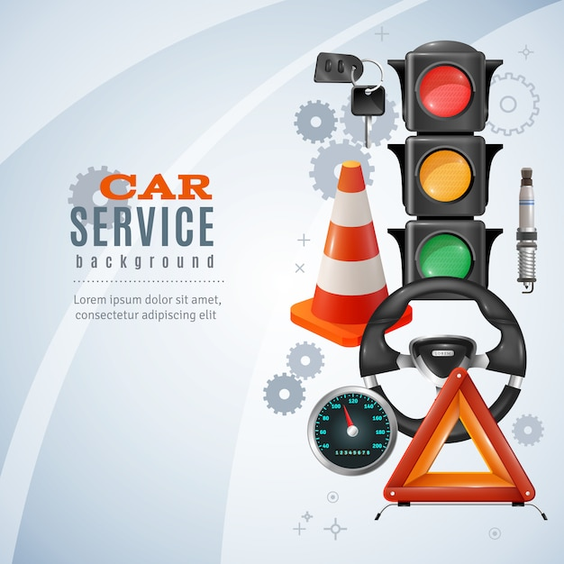 Car service background Free Vector