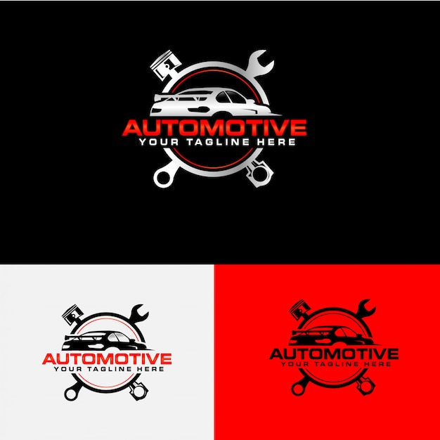 Car service company logo collection Premium Vector