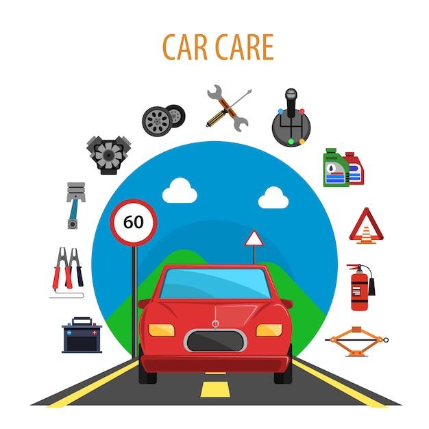 Car service concept Free Vector