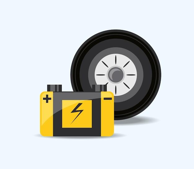 Car service design Premium Vector