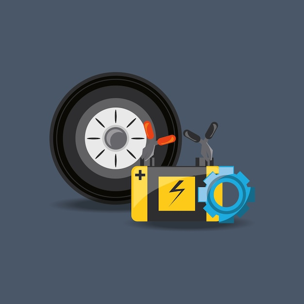 Car service design Premium Vector