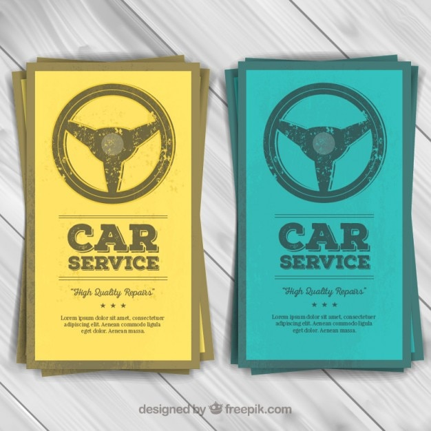 Car service flyers Premium Vector