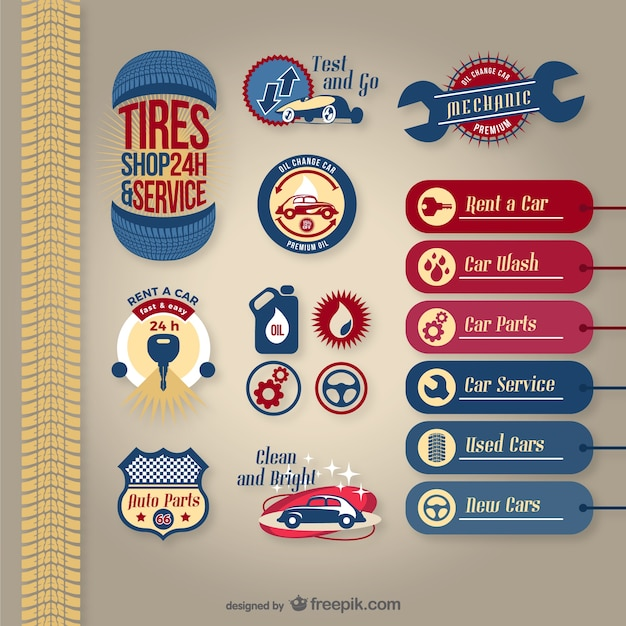 Car Service Vector Pack Vector Free Download