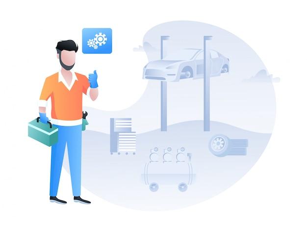 Car service Premium Vector