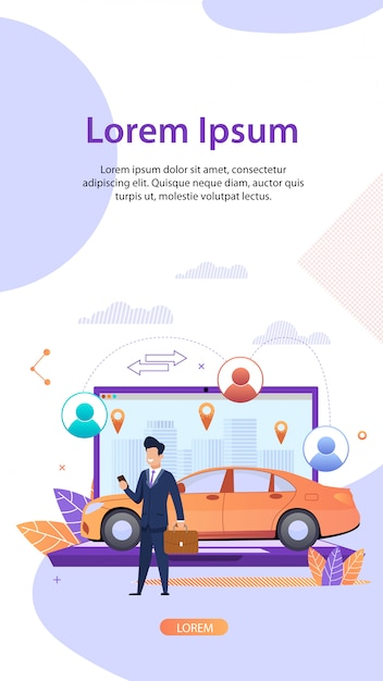 Car sharing. vehicle rental service. fractional. Premium Vector