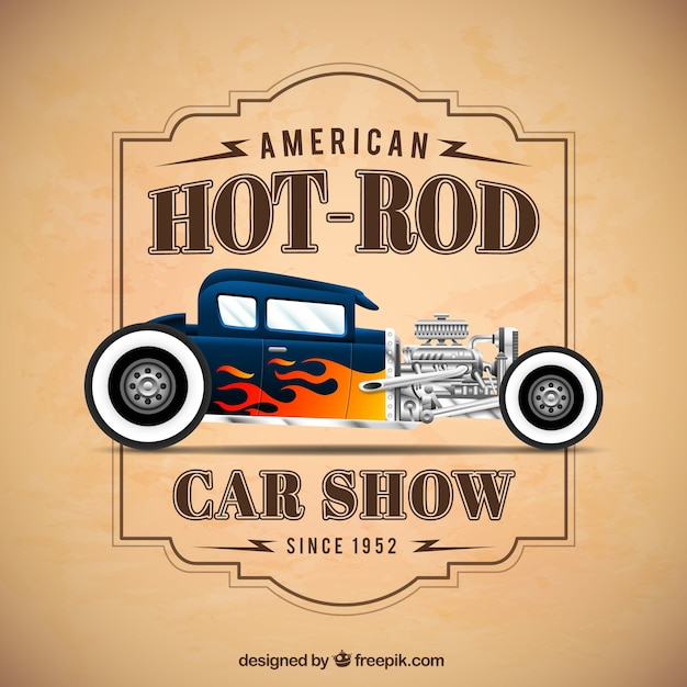 Car Show Poster Vector Free Download - Classic car show poster template