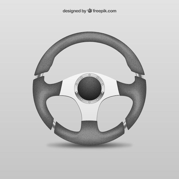 Car steering wheel Free Vector