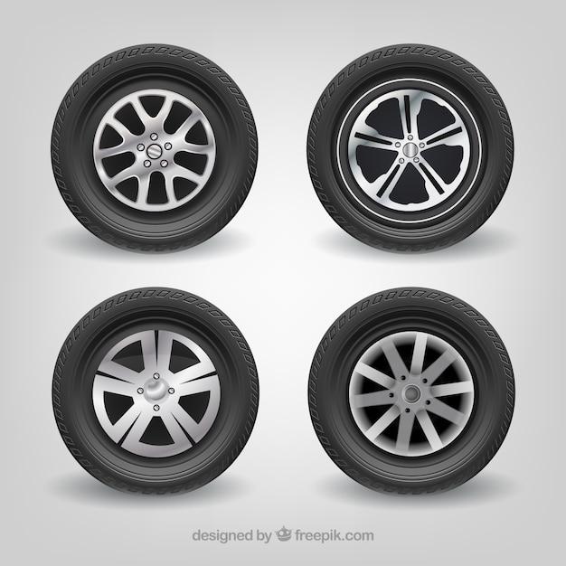 Car tires mercedes benz realistic vector set vector free for Mercedes benz tire