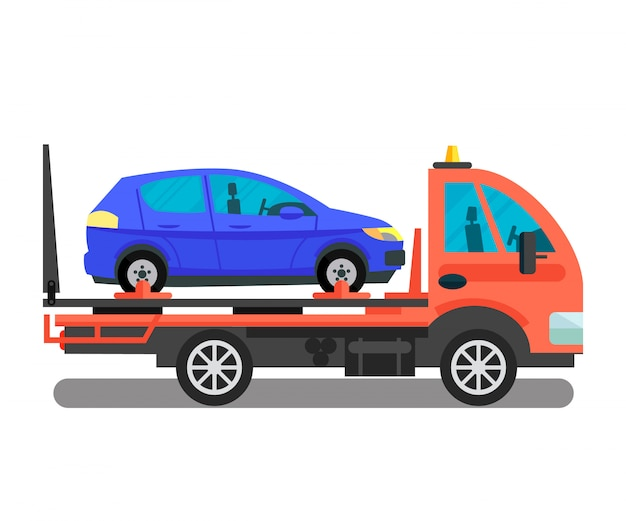 Car transportation business vector illustration Premium Vector