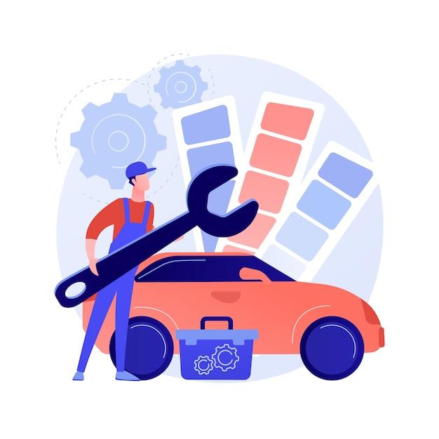Тюнинг автомобилей абстрактная концепция иллюстрации Бесплатные векторы