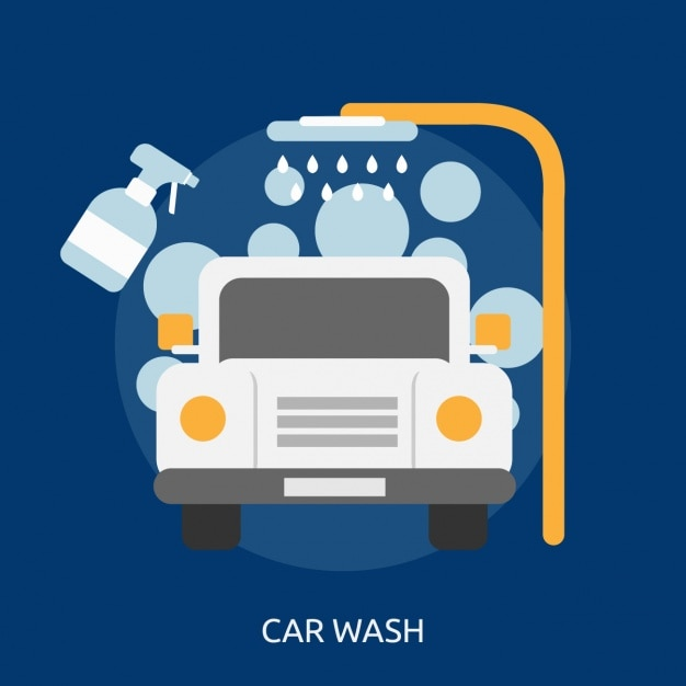 Car Wash Background Design Vector Free Download