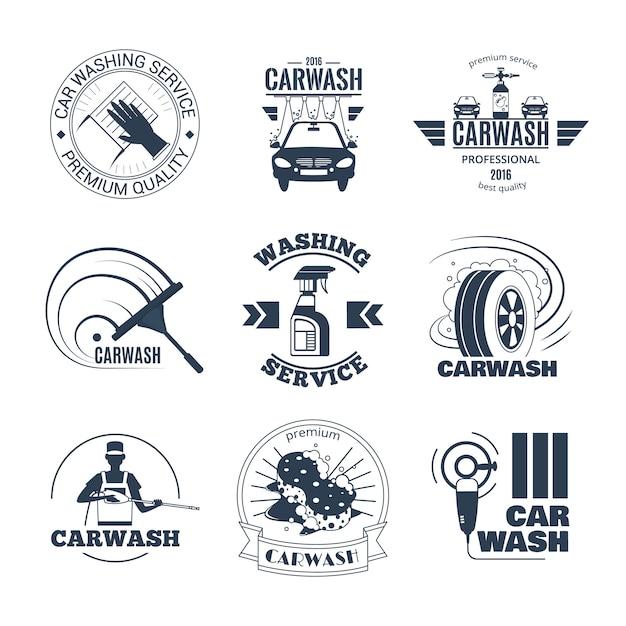 Коллекция для мытья автомобилей Бесплатные векторы
