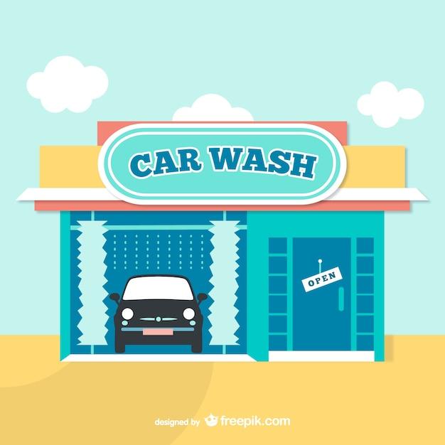 car wash cartoon vector free vector