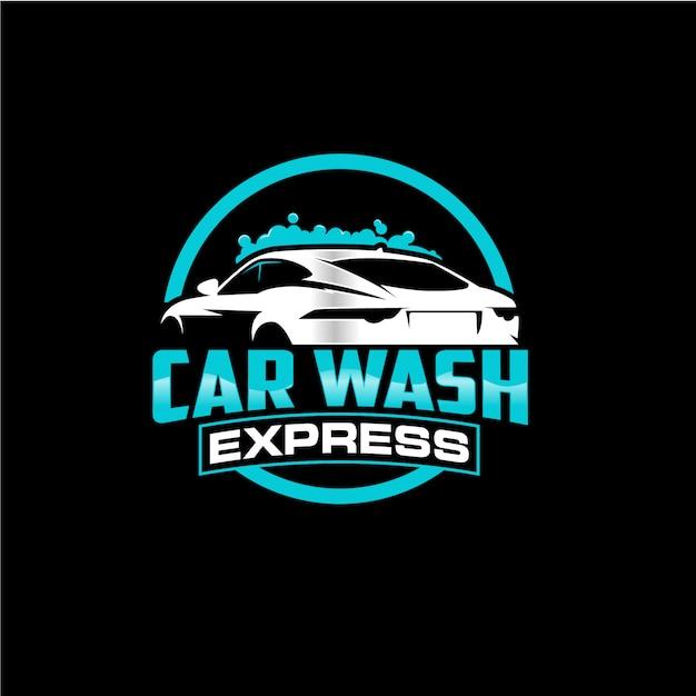 premium vector | car wash circle logo design  freepik
