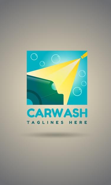 Car wash logo template design Premium Vector