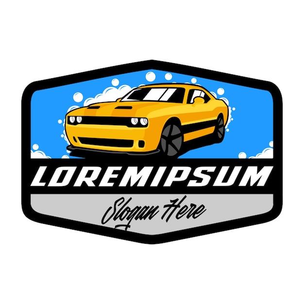 Car wash logo template Premium Vector