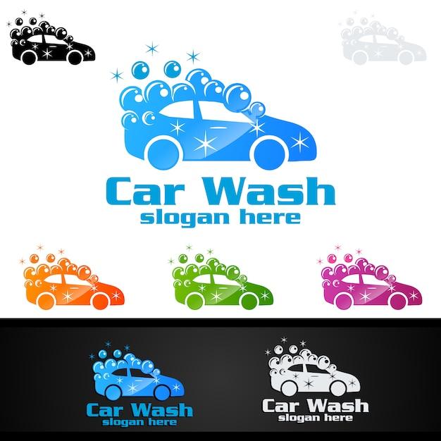 Car wash logo Premium Vector