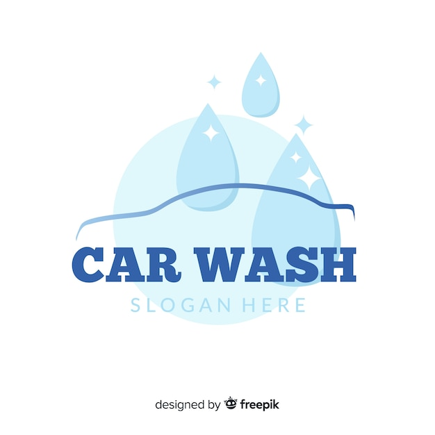 Car wash logo Free Vector