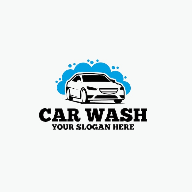 Car wash logo Premium Vector