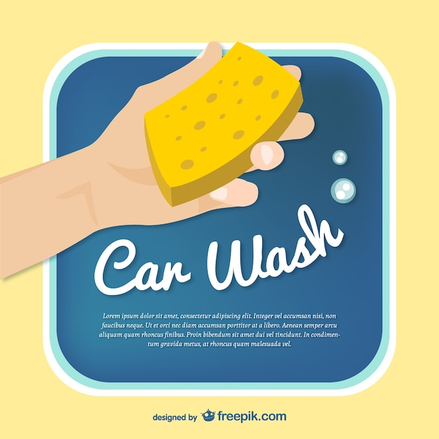 Car Wash Template Vector Vector Free Download
