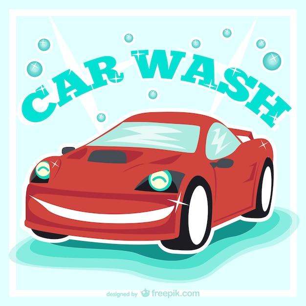 car wash vintage vector