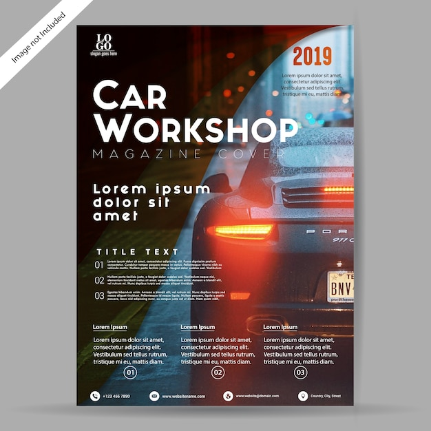 Car Workshop BrochureFlyer Template Vector Premium Download - Workshop brochure template