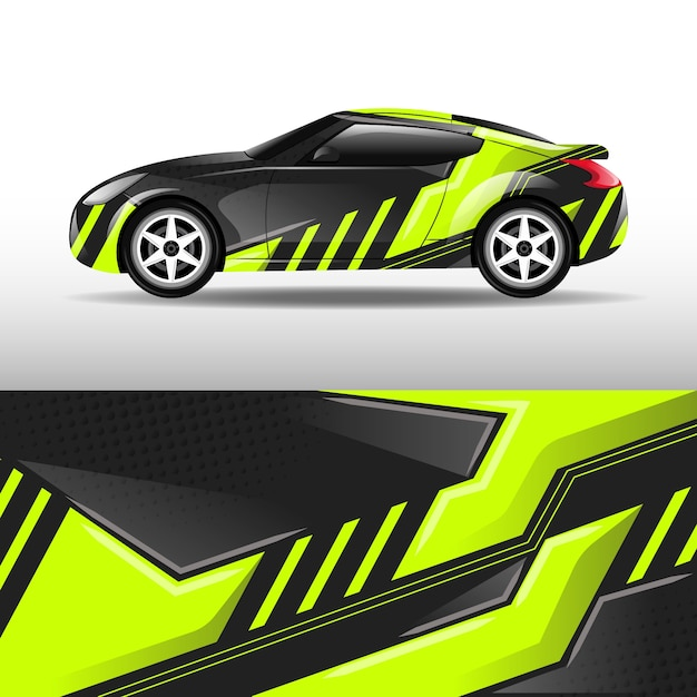Car wrap design Premium Vector