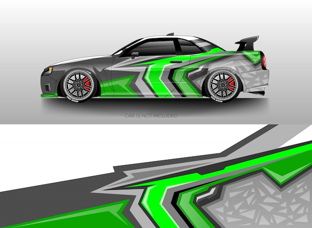 Car wrap designs vector Premium Vector