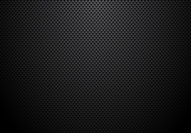Carbon fiber background and texture with lighting Premium Vector