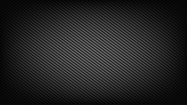 Carbon fiber wide screen background. technological and science backdrop. Premium Vector