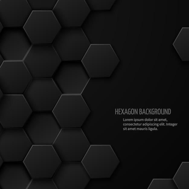 Абстрактный фон углеродной технологии с пространством для текста. геометрический дизайн шестиугольника Бесплатные векторы