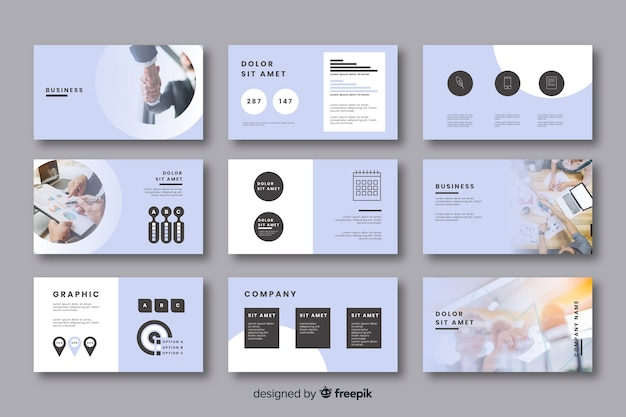 Card collection for business ideas Free Vector