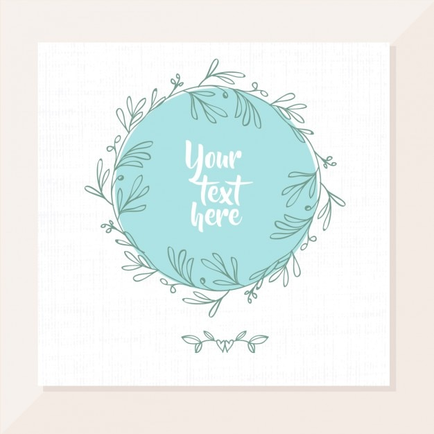 Card design with branches Free Vector