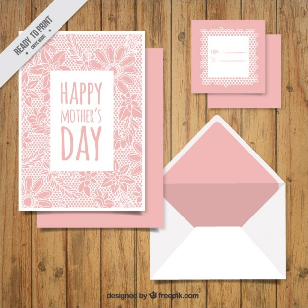 Card for mother\'s day, floral theme