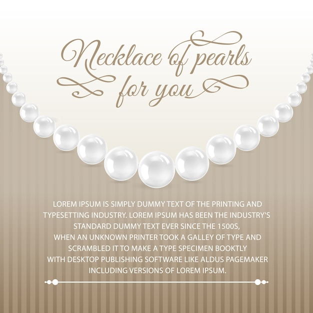 Card from necklace. Free Vector
