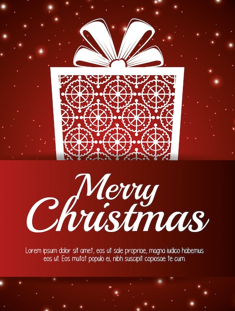 Card merry christmas and new year design isolated Free Vector