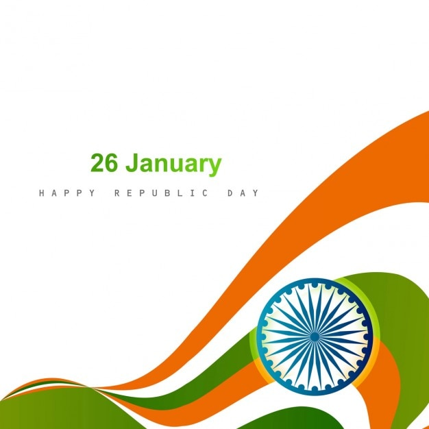 Card of indian republic day