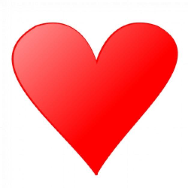 Карта символы: сердце Бесплатные векторы