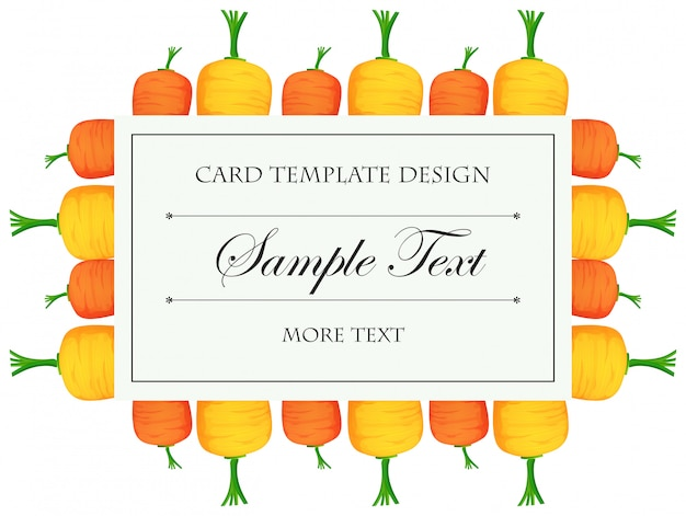 Card template with colorful carrots Free Vector