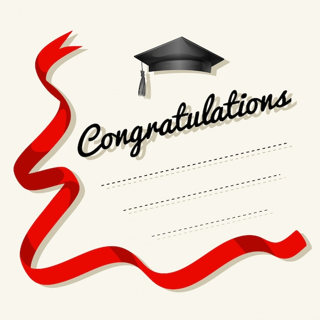 Card template with congratulations word Free Vector
