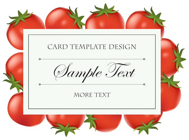 Card template with fresh tomatoes Vector | Free Download