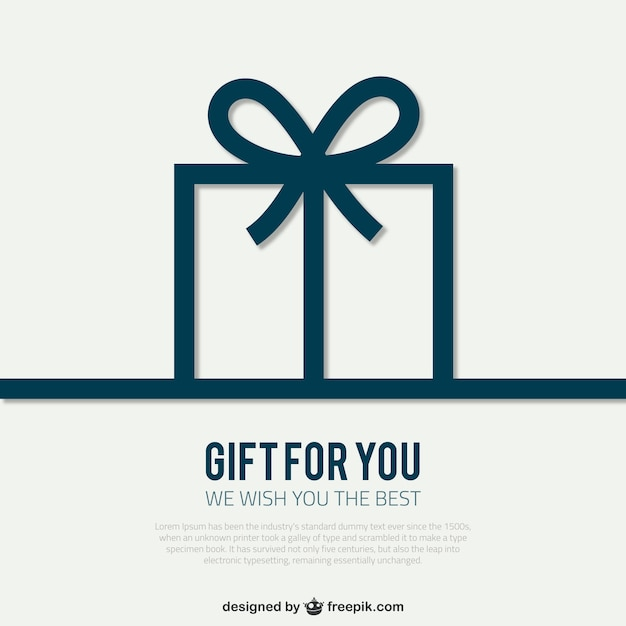 Card template with gift box Free Vector