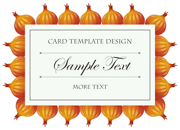Card template with onions Free Vector
