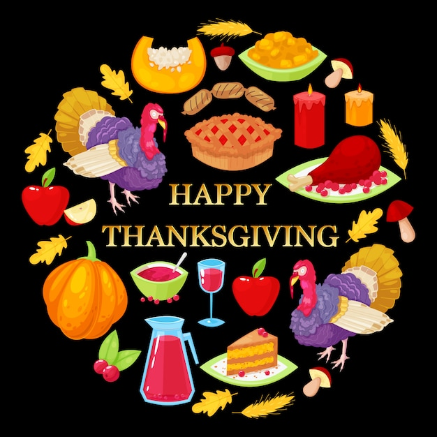 Card for thanksgiving day Premium Vector