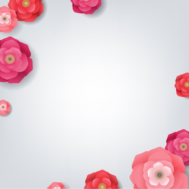 Card with flowers Premium Vector